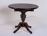Стол деревянный круглый Колизей  ( орех темный ), фото 1