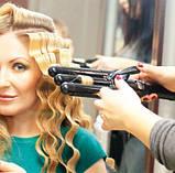 Плойка тройная для укладки волнами Jianda JD-016 Professional Hair  - профессиональная плойка, фото 6