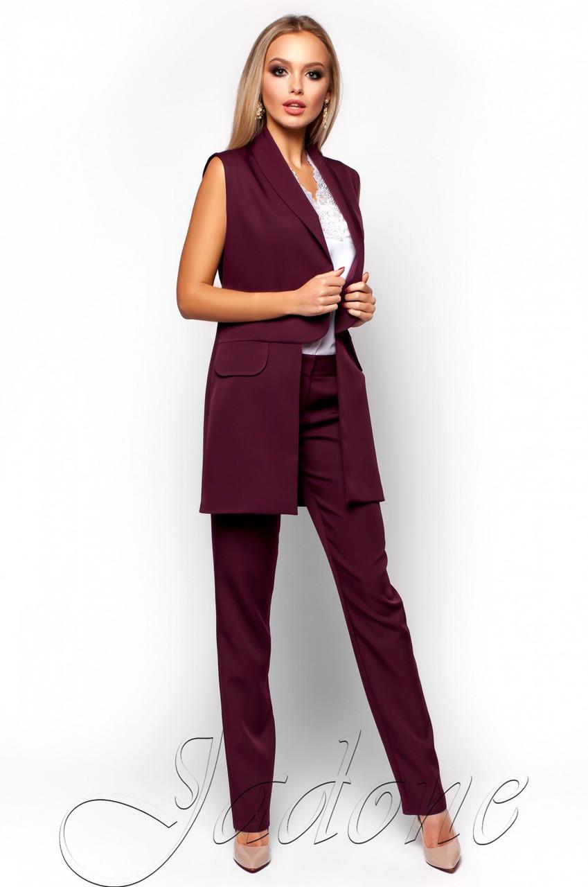 69fcdfb19a20 Офисный брючный костюм Андреа слива Jadone Fashion 42-48 размеры -  Интернет-магазин одежды