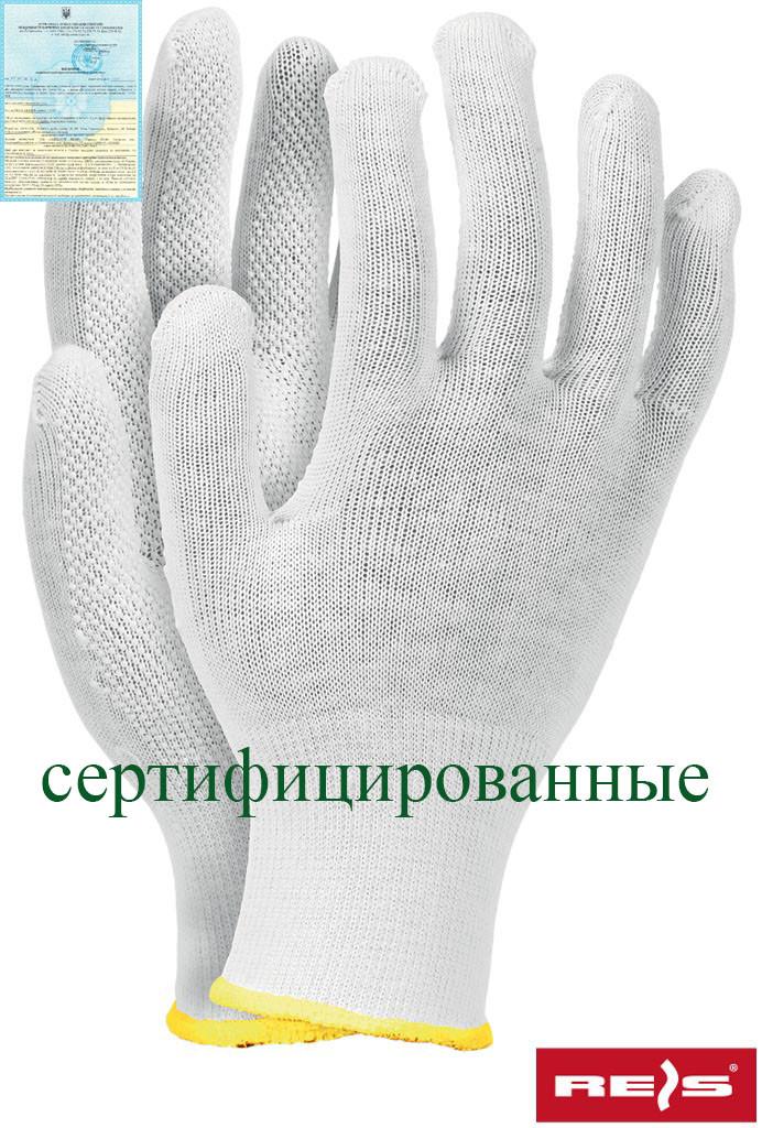 Защитные рукавицы изготовленные из высококачественного хлопка с односторонним микронакроплением RMICRONCOT W