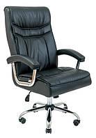 Офисное кресло руководителя Richman Бургас черное