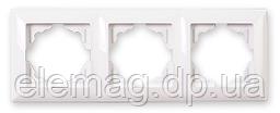 Gunsan Visage Рамка тройная белая