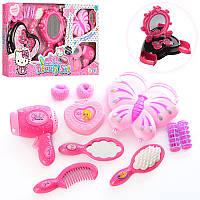Детский набор парикмахера и других акссесуаров для девочки, фен, сумочка, шатулка, KT-615