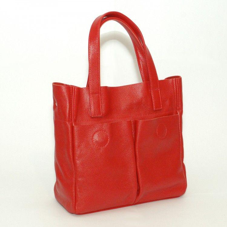 b4cc4d2c5a49 Красная кожаная сумка украинского производства BagTop арт. BTJS-2-10 -  BagShop.