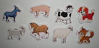Магнитики обучающие Домашние животные