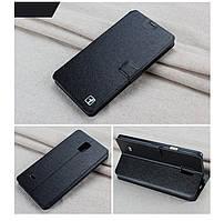 Чехол Samsung Note 4 / N910 книжка Flower Ultrathin черный