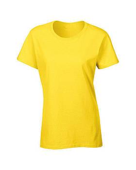 Жіноча футболка під сублімацію L колір жовтий