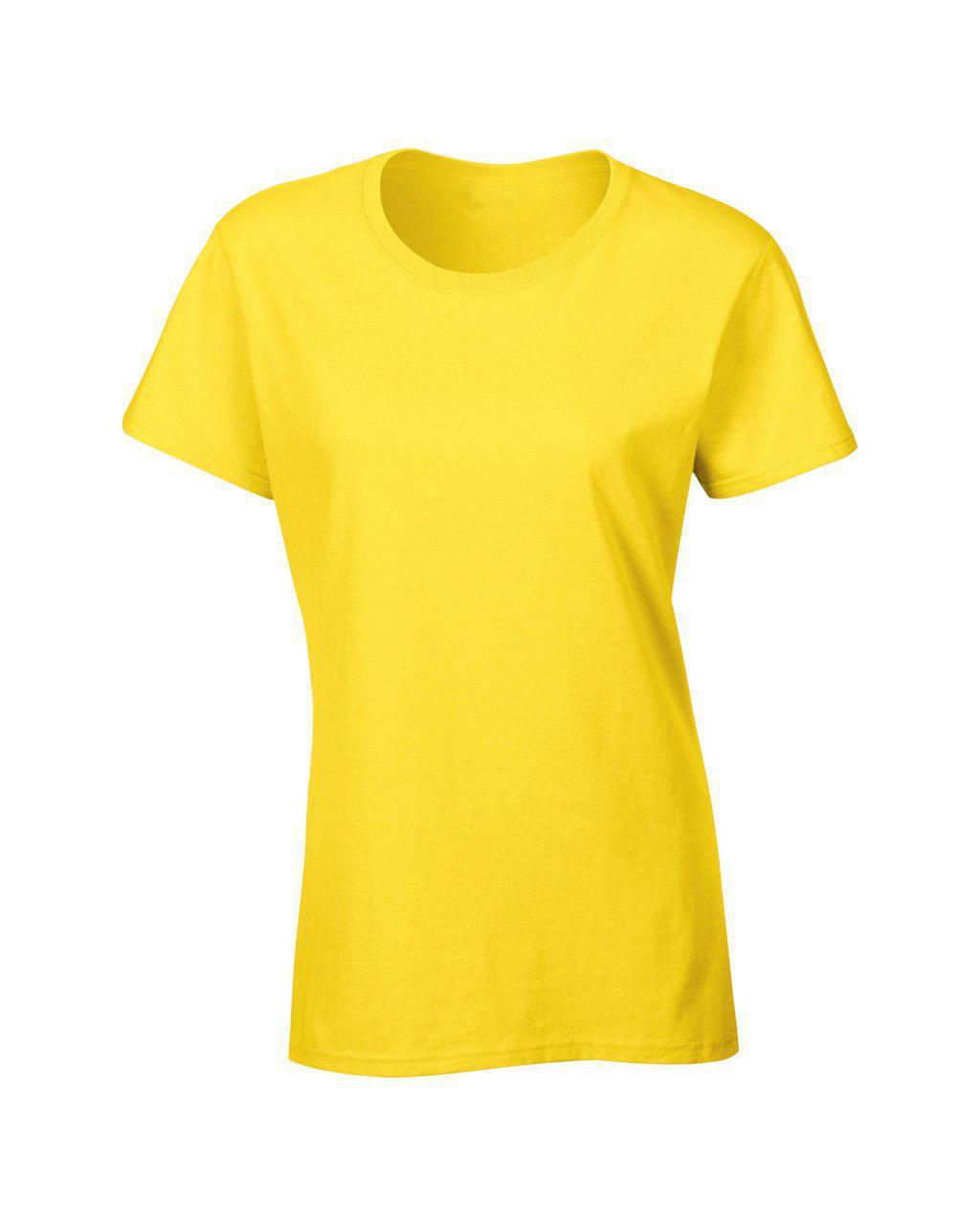 Женская футболка под сублимацию M цвет желтый