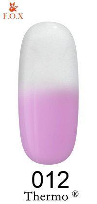 Гель-лак F. O. X Thermo №012 ніжно-бузковий - білий 6мл.