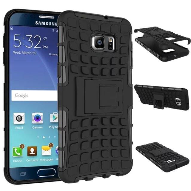 Чехол Samsung Note 5 / N920 противоударный бампер черный