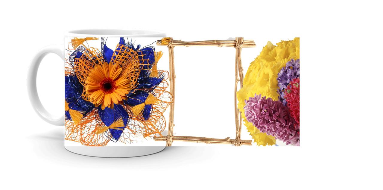 """Чашка с фото """"Цветы"""" (138-8б)"""