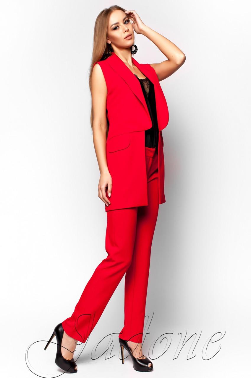 297a0d5746ca Офисный красный брючный костюм Андреа Jadone Fashion 42-48 размеры -  Интернет-магазин одежды