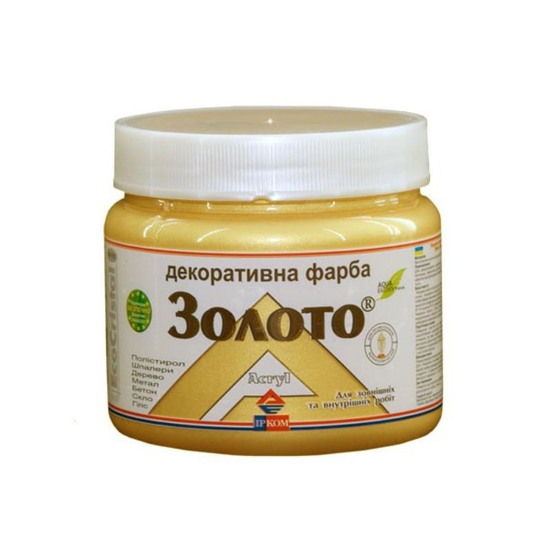 """Краска декоративная """"металлик"""" Ирком (золото IP 151) 0,4 л"""