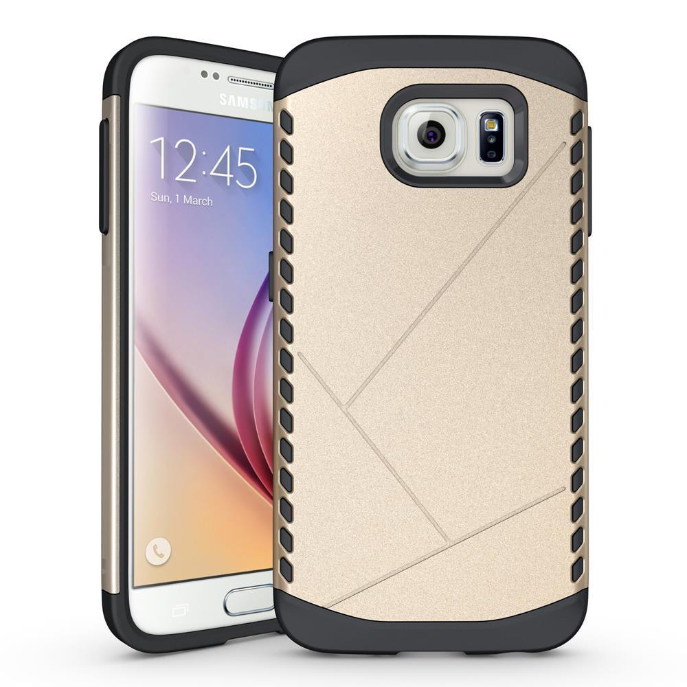 Чехол Samsung S6 edge / G925 бампер Armor Shield золотистый