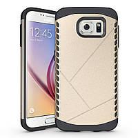 Чехол Samsung S6 edge / G925 бампер Armor Shield золотистый, фото 1