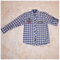 Рубашка детская на мальчика в клетку размер 10 116 122 128