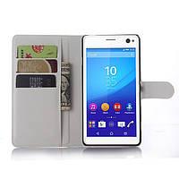 Чехол Sony Xperia C4 / E5333 / D5333 книжка PU-Кожа белый
