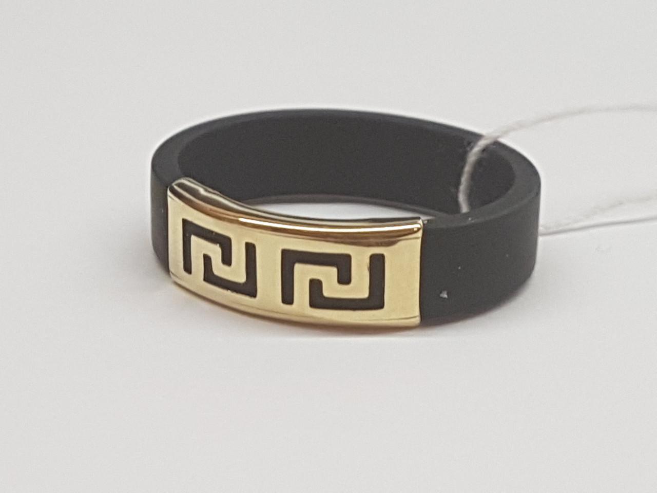 Кільце з каучуку з золотою вставкою. Артикул 900619В 21
