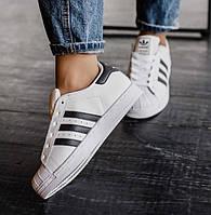 Кроссовки Adidas Superstar White/Black женские
