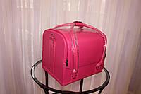 Кейс для косметики, розовый матовый
