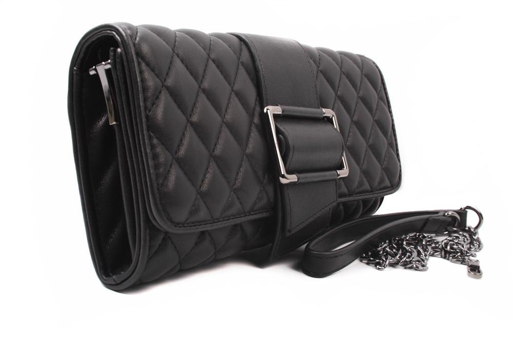 Клатч женский эко-кожа, цвет черный, малый размер, прямоугольная форма (сумка женская)