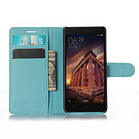 Чехол Xiaomi Redmi 3 книжка PU-Кожа голубой