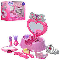Туалетный столик шкатулка, набор аксессуаров для девочки, маленькое трюмо, BE2028