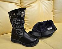 Обувь для девочки Зимние ботиноночки кожа 27, 28 р