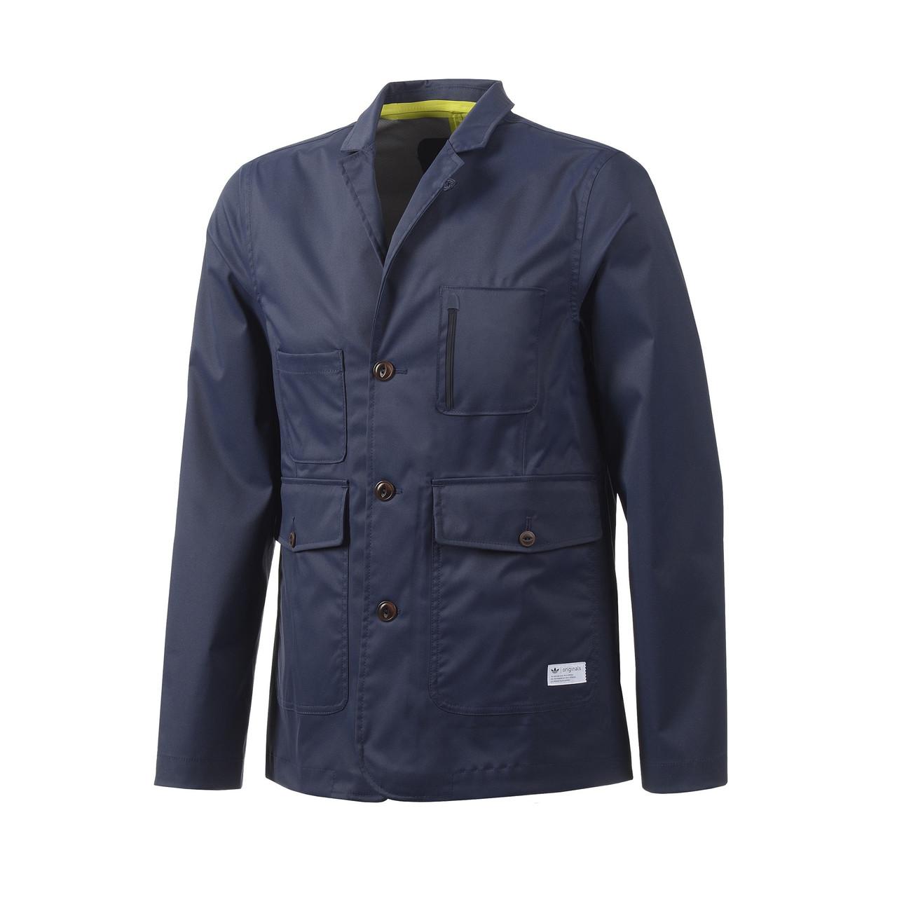 Блейзер спортивный мужской adidas Tech Blazer F50155 (синий, летний, на пуговицы, casual, логотип адидас)