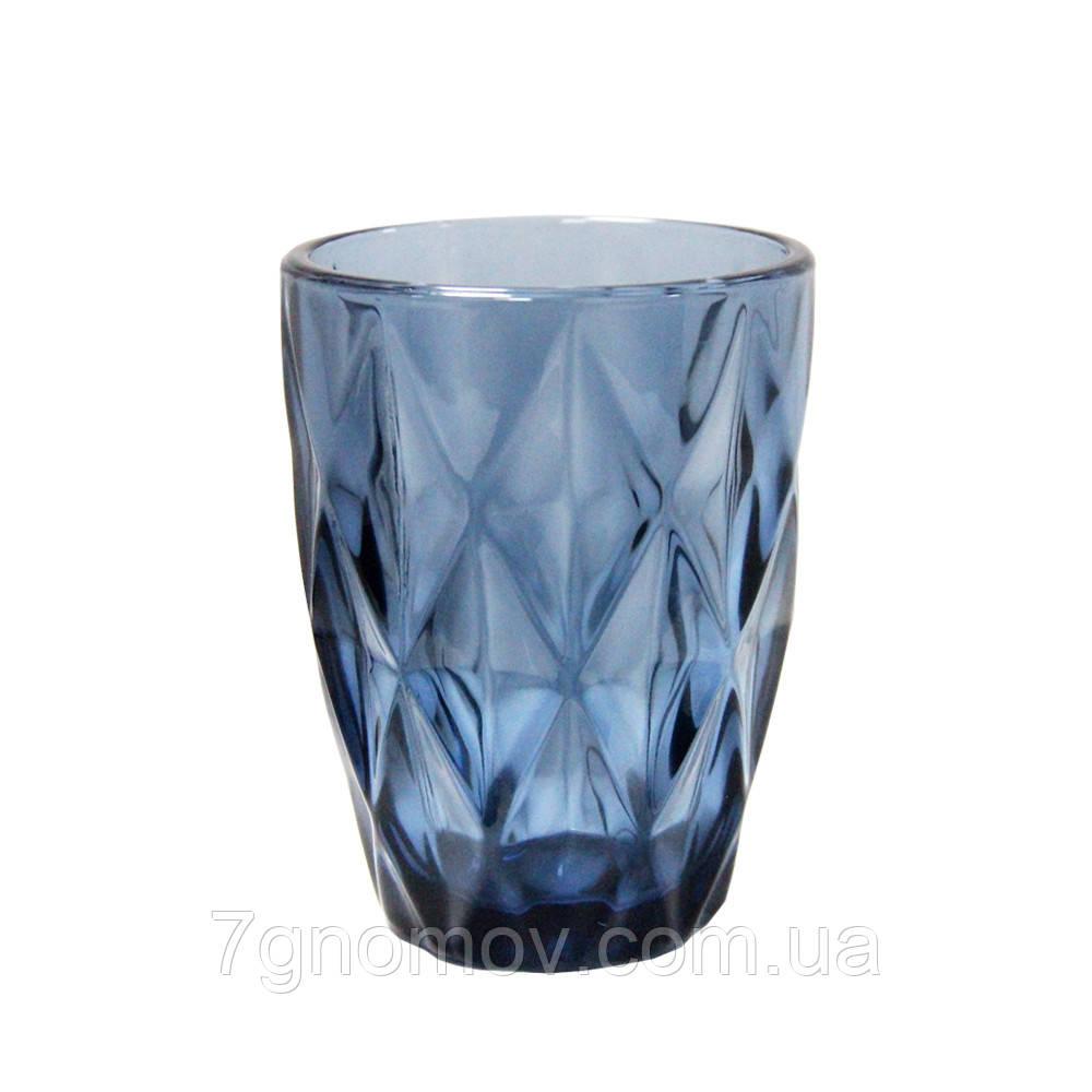 Набор 6 стаканов из цветного синего стекла Изольда 250 мл