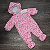 Детский весенний сдедьный комбинезон для девочки 0-3мес