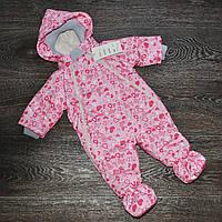 Дитячий весняний сдедьный комбінезон для дівчинки 0-3міс, фото 1
