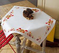 """PN-0155619 Набор для вышивания крестом (скатерть) Vervaco """"Ежик и грибы"""""""