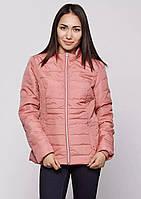 Куртка женская весенняя (силикон) бренда Vila персикового цвета
