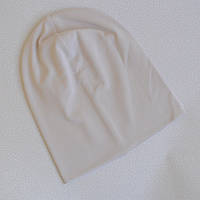 Детская шапка бини. Светлый беж. Размеры: 50-52, 52-54 см