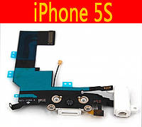Шлейф коннектора зарядки / коннектора наушников с микрофоном для Apple iPhone 5s