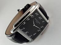 Мужские часы Patek Philippe - Geneve, корпус - серебро, черный циферблат, фото 1