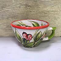 Чашка керамическая 100% ручная работа 0,5 л (70)