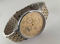 Часы мужские TISSOT - 1853 кварцевые, циферблат золотистый