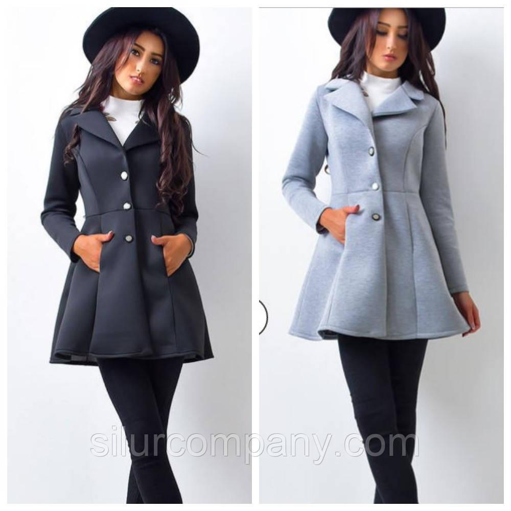 0474003c28b Модное пальто женское А-силуэта