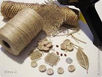 Нитка  для рукоделия натуральная джутовая  1,3 мм