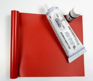 Тканина ПВХ - шматки, обрізки тканини пвх - ремкомплект для човни пвх