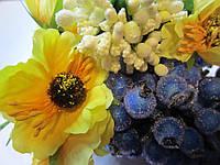 Мак жёлтый для украинского венка, диаметр цветка 40 мм, 1 шт., фото 1