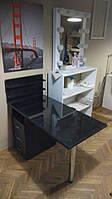 Маникюрный стол, чорный стеклянный
