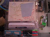Набор для рисования в темноте 3Д доска Magic Drawing Board 3D, фото 1