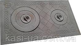 Плита чугунная печная с комфорками ПД-3Б (710 х 410 мм.)