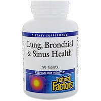 Natural Factors, Здоровье дыхательных путей (Lung, Bronchial & Sinus Health), 90 таблеток