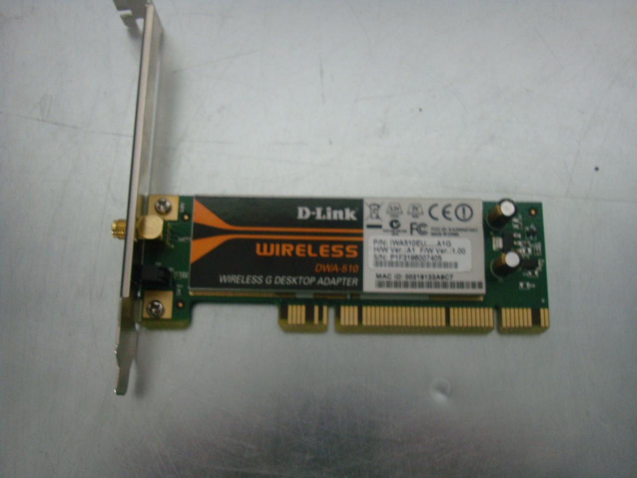 Wi-Fi адаптер D-Link DWA-510 PCI