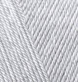 Пряжа Alize Diva светло-серый №168 летняя для ручного вязания