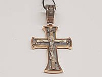 Золотий хрестик. Розп'яття Христа. Артикул 11537-Ч, фото 1